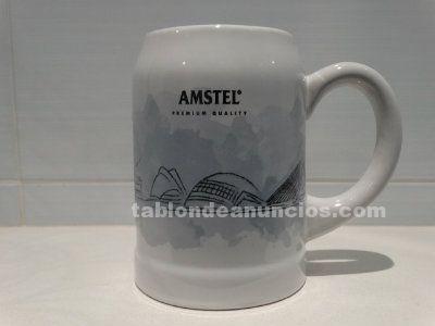 Jarra cerveza AMSTEL edición limitada Valencia