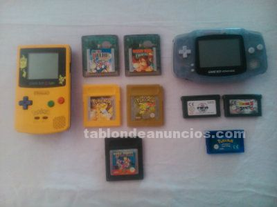 GAME BOY COLOR Y ADVANCE, CON JUEGOS