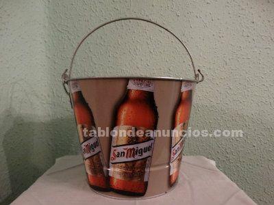 Cubo metálico cerveza San Miguel