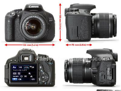 Kit/pack canon eos 600d