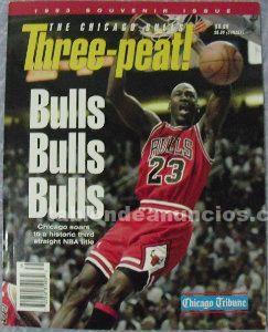 Michael jordan - revista/libro ''threepeat'' (1993) - especial tercer anillo