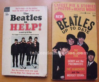 Libros ''The Beatles in Help!'' (1965) + ''The Beatles. Up to date'' (1964)