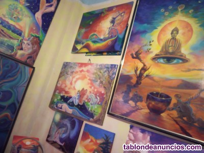 Vendo lienzos  exclusivos  firma klimon, pintura espiritual
