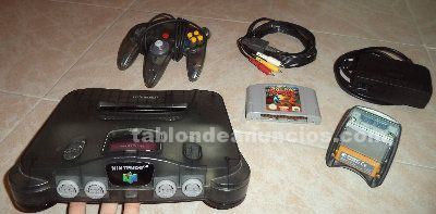 Nintendo 64 + pokemon stadium + transfer pack