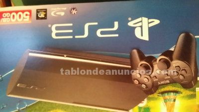 PS3 SUPER SLIM 500GB 4 JUEGOS