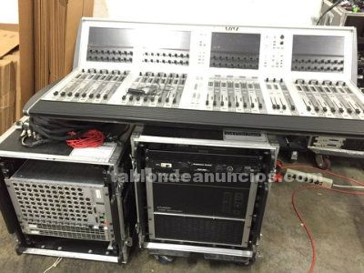 Soundcraft consola digital vi4 bastidor local, estante etapa, caso, cubierta de