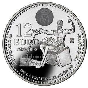 Moneda conmemorativa 12 euros 2005.