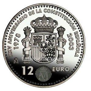 Moneda conmemorativa 12 euros 2003