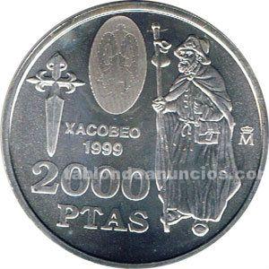 MONEDA CONMEMORATIVA 2000 PTAS. 1999.