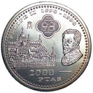 Moneda conmemorativa 2000 ptas. 1998