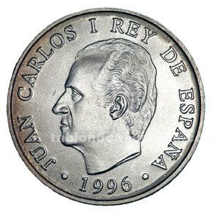 MONEDA CONMEMORATIVA 2000 PTAS. 1996.
