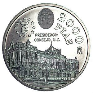 MONEDA CONMEMORATIVA 2000 PTAS. 1995.
