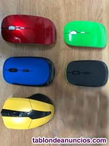 Ratón óptico inalámbrico x bluetooth. Nuevo. Rojo o negro.