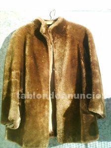 Chaqueta de piel de cordero dorado vintage años 50