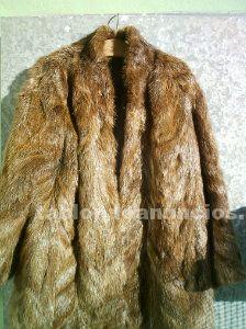 Chaqueta en piel de nutria vintage años 60