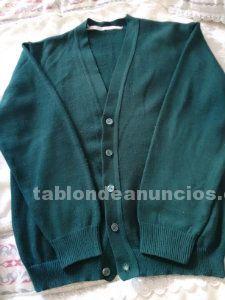 Vendo chaqueta punto verde oscuro y bata uniforme (colegio blanca de castilla)