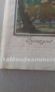2 grabados antiguos de delfenbach siglo 18