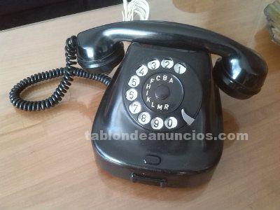 Teléfono de baquelita negro 1.960.