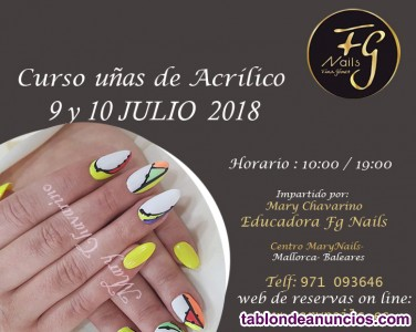 Curso u�as acr�licas- gel- decoraci�n