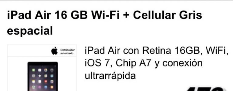 Ipad air 16 gb cellular a estrenar