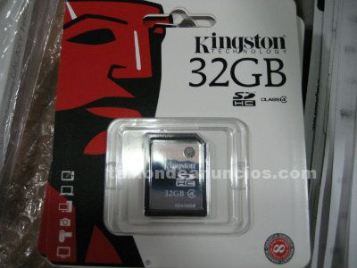 Tarjeta memoria sd kingston 32 gb class4