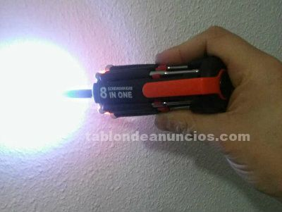 Destornillador múltiple con led