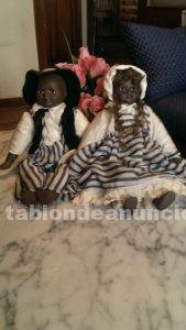 Pareja muñecos negritos de porcelana