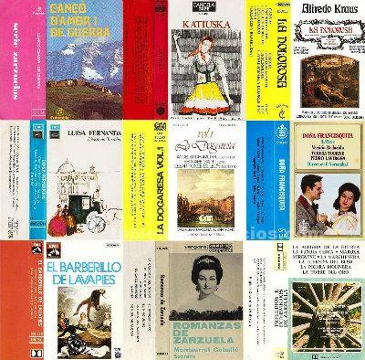 Compro cassettes de zarzuela