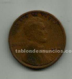 Moneda de one cent de u. S. A. 1929.