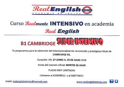 Curso s�per intensivo b1 cambridge