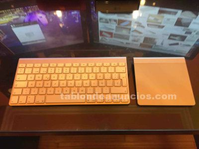 Apple wireless keyboard y apple magic trackpad.