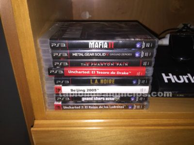 Ps3 ultra slim 500gb + 9 juegos + mandos
