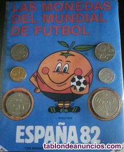Monedas del mundial España 1982, con Naranjito