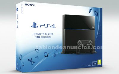 Vendo ps4 1 tb ultimate player edition caja y garantia