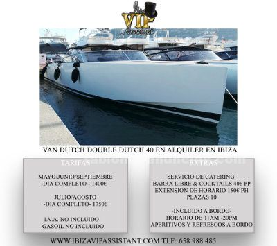 Alquiler de yates - van dutch double dutch en ibiza