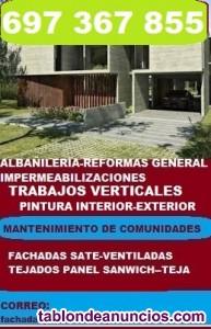 Trabajos en albañileria en general-fachadas ventiladas