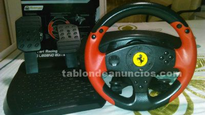 Volante thrustmaster ferrari racing wheel red legend edition ps3/pc