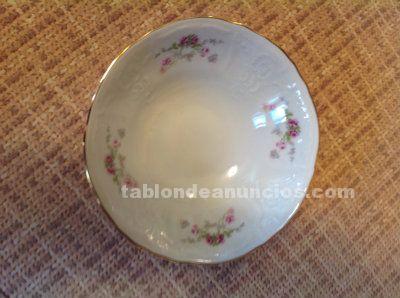 Vajilla de porcelana fina de bohemia con borde dorado