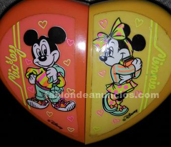 Micky mouse y minni cajita articulable