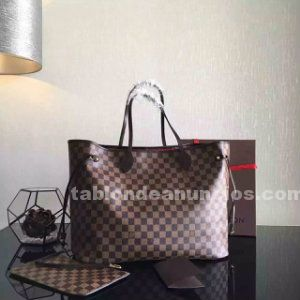 Bolso louis vuitton neverfull mm damier.