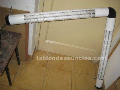 Plafón acodado de 4 tubos