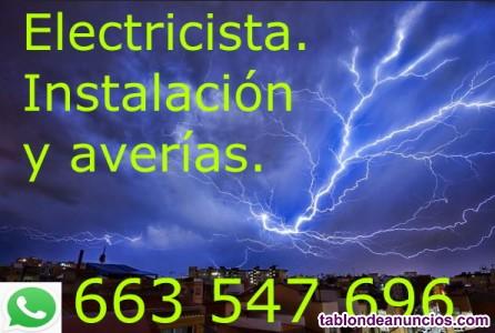 Electricista, averías, reparaciones, instalaciones, reformas.