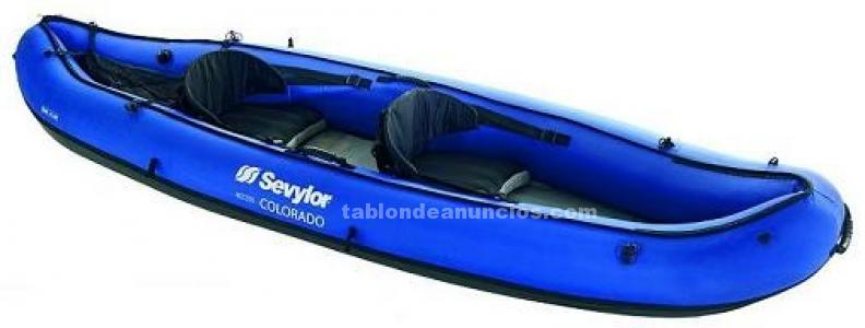 Kayak hinchable dos plazas seylor colorado