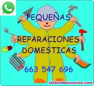 Pequeñas averías, reparaciones, instalaciones, domésticas.