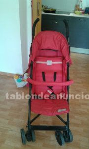 Vendo carro de bebe marca jane color rojo