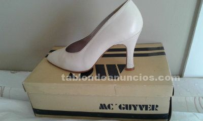 Zapatos de novia numero 36 color blanco roto