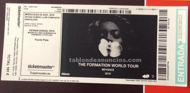 Entradas concierto beyonce golden circle/ pista