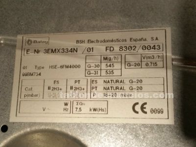 Placa de gas balay