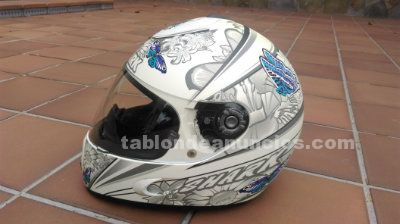 Casco shark s800 butterfly blanco/azul/v