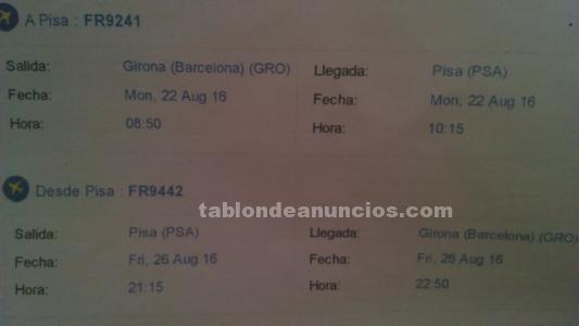 Billetes avion girona a florencia